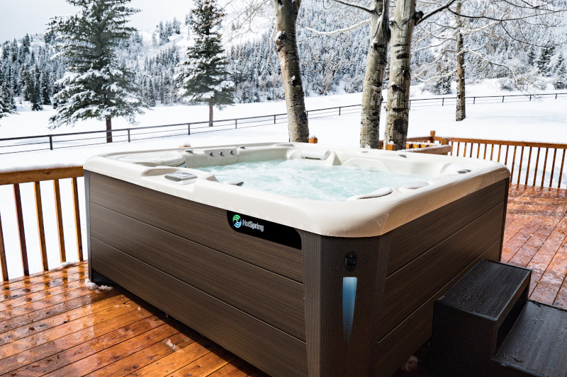 HOT TUB DELIVERIES IN THIS SNOW? YES! SOAKING IN A SNOWSTORM