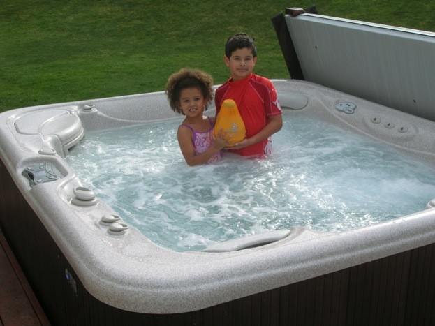 Grandkids Love the Hot Tub Now That the Water's Clean