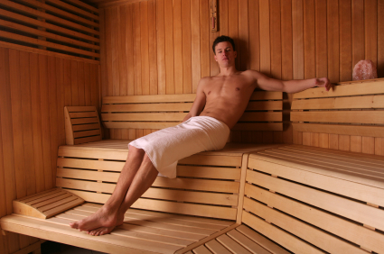 "Here's something funny: Some folks think ""sweating"" in an infrared sauna is a new wellness craze"