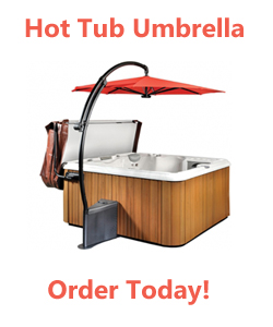 Buy a hot tub umbrealla from Olympic Hot Tub
