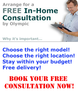 Free in-home hot tub consultation by Olympic Hot Tub