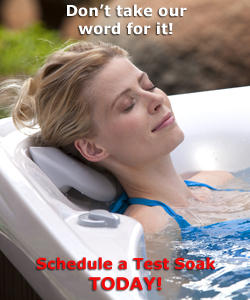 Schedule a test soak and try your hot tub before you buy your hot tub!