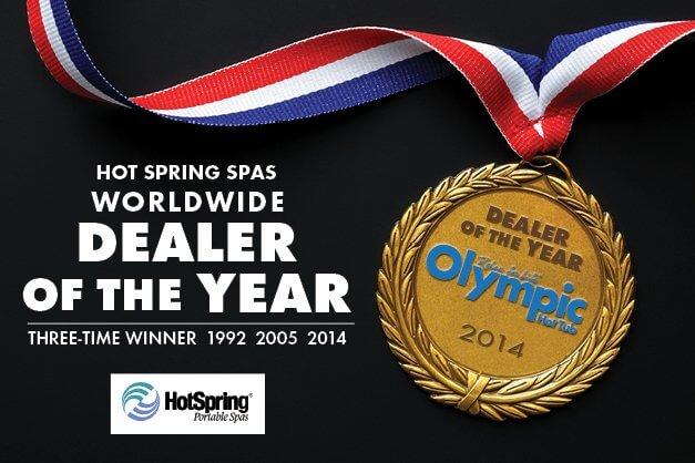 Olympic Hot Tub Wins Highest Award from Hot Spring Spas~for the 3rd Time