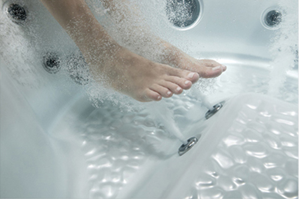 If you're a fan of a good foot massage, try one in your hot tub