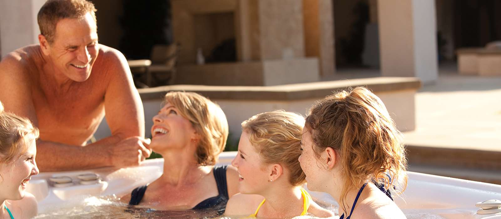 Want to get closer to your kids? Share a hot tub! - Olympic Hot Tub