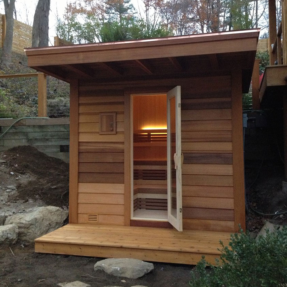 Seattle outdoor sauna design store sales olympic hot tub for Sauna design plans