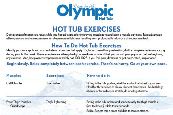 Hot Tub Stretching Exercises [New!]