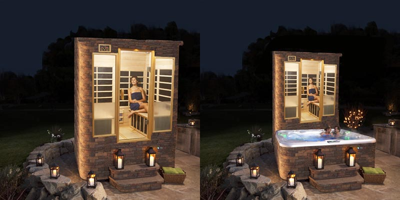"""Hot Spring and Finnleo Partner To Create the """"SPAUNA ™ """" – The World's First Hot Tub and Sauna Combo"""