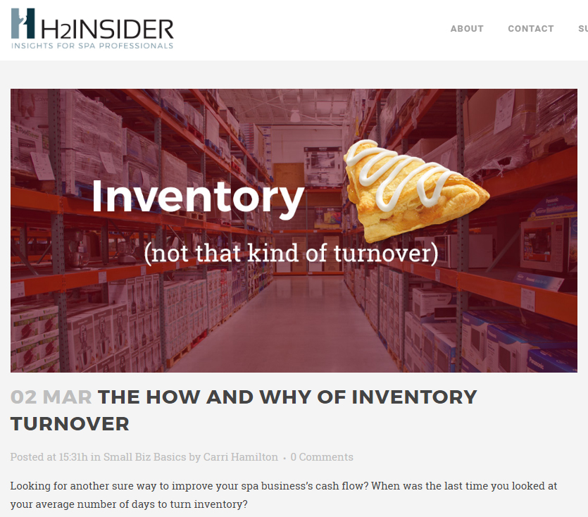 THE HOW AND WHY OF INVENTORY TURNOVER