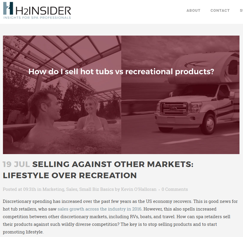 Selling Against Other Markets: Lifestyle Over Recreation