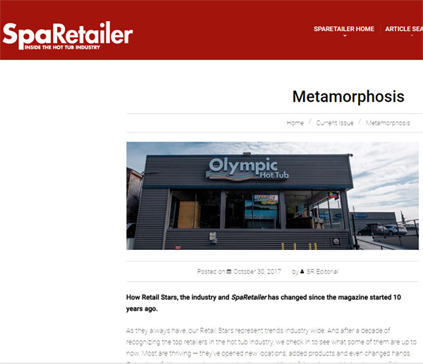 Spa Retailer – Metamorphis – With Olympic Hot Tub's Don Riling