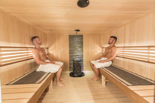 Guess what's good for men with high blood pressure? Regular sauna use!