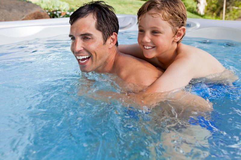"""For Dad's Day, why not surprise him by upping the """"cool factor"""" of your Hot Spring Spa?"""