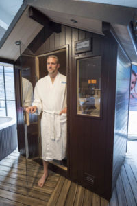 Sauna and chromatherapy.