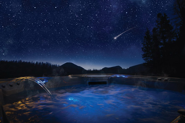 The best spot to view the Christmas Comet? Your hot tub, of course!