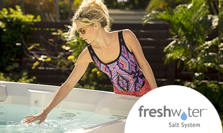 The next great hot tub water care revolution is here! Introducing the FreshWater Salt System