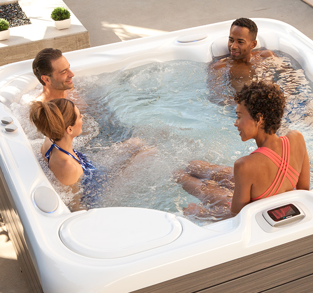 The power of saltwater soaking in a hot tub