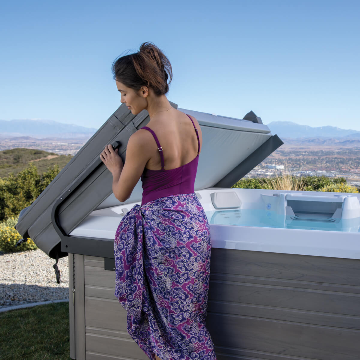Had to cancel a vacation? A hot tub might be the perfect staycation/health-cation!