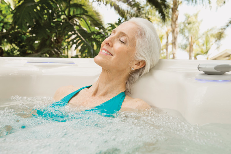 One way to help your mental health? A hot tub